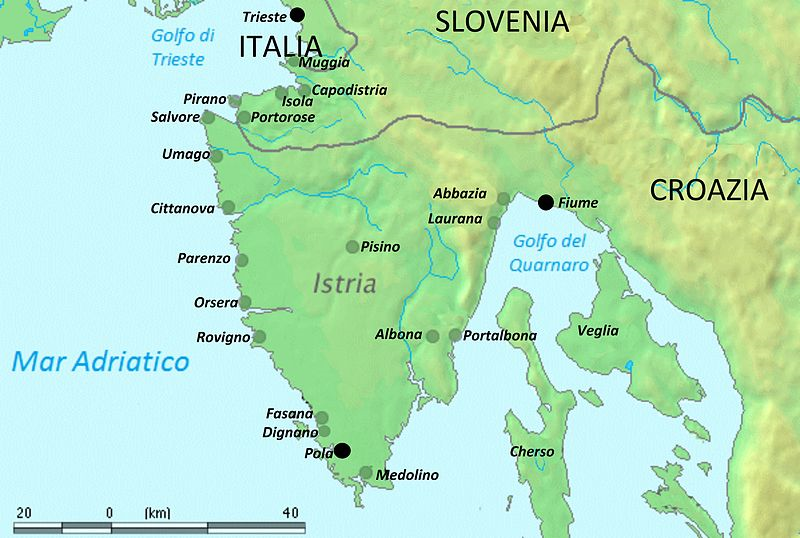 CARTINA ISTRIA